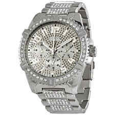 Guess Frontier Quartz Crystal Silver Dial Men's Watch W0799G1