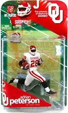 McFarlane College 1 ADRIAN PETERSON chase action figure-Oklahoma-Vikings-NFL-NIB