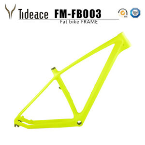 Carbon Fiber Fat Bike Frame Green/Black 26er T800 Carbon Snow Bicycle Frameset