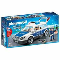 Playmobil City Action Police Car with Light and Sound Effects for Children