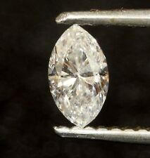 loose EGL certified marquise .44ct diamond I1 D Natural fancy cut estate