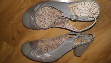 BNWOB MARKS & SPENCER SLINGBACK GREY MIX HEELS Shoes leather Size 5.5 RRP£45