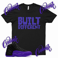 Black BUILT DIFFERENT Sneaker T Shirt match Jordan 12 Dark Concord 11 WMNS Low