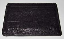 TUMI Black Leather Credit Card Holder Wallet Slim with Belt Clip