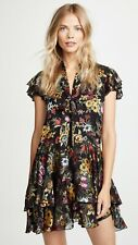 2018 NWT Alice + Olivia Moore Western Floral Tie Neck Dress $440 Sz 6 Small