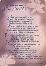 In Loving Memory Of A Very Dear Dad Grave Side Memorial Card