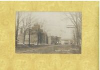 NY Dundee 1908 RPPC real photo postcard MAIN ST BUILDINGS to St. Louis MO