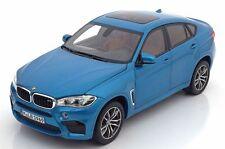 BMW X6 M F86 2015 Blue Metallic Special Edition Model Car 1:18 Genuine New