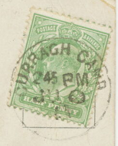"GB ""CURRAGH CAMP"" very fine CDS (29 mm) ENGLISH Type POSTMARK ERROR on pc"