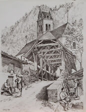 Gsteig Kirche Reformation Interlaken Holzbrücke Lütschine Gsteigwiler Bern Bauer