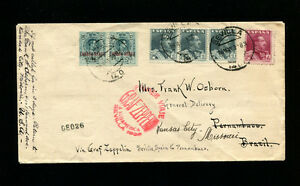 Zeppelin Sieger 58Ab 1930 1st South America Fligh Spain Post to Recife FORWARDED