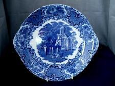 Late 19th c George Jones Blue & White Ware Platter/Cake Plate Abbey Pattern