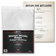 1 Pack of 100 BCW Sheet Music Bags with flap Holder Storage Protection