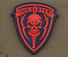 "PVC / Rubber Patch ""I**S Slayer Skull"" with VELCRO® brand hook"