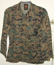 USMC US Marine Corps Woodland MARPAT Digital Camo MCCUU Jacket Small Long S/L