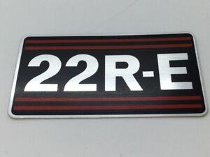 Genuine Toyota 4Runner Celica Pickup 22R-E Engine Nameplate Emblem Decal