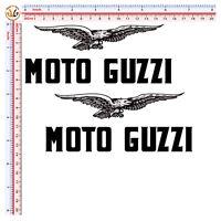 Adesivi scontornati moto guzzi aquila sticker eagle moto guzzi auto helmet 4 pz.
