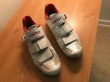 Giro Factor Easton EC90 Road Bike Cycling Shoes White/Red EU 41 Mens US 8