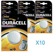 3 X Dl2450 Duracell Lithium Batteries CR2450 2450 K2450l.