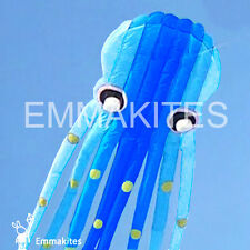 Giant 75ft Blue 3D Tube-Shaped Parafoil Octopus Kite Single Line Control Outdoor