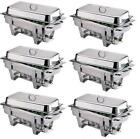 PACK OF 6 MILAN STAINLESS STEEL CHAFING DISH SETS ***FREE NEXT DAY DELIVERY***