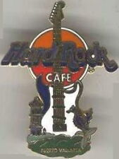 Hard Rock Cafe PUERTO VALLARTA 2000 Fender Strat GUITAR PIN Cathedral & Seahorse