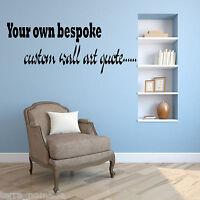 Personalised Custom Bespoke Text  Wall Art - Wall Sticker - Wall Decal