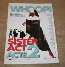 DOSSIER PRESSE PRESS BOOK 1993 SISTER ACT 2 Whoopi Goldberg M Smith J Cobubrn