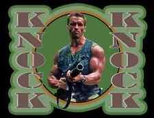 "80s Sci-Fi Classic Predator Arnold Schwarzenegger Dutch ""Knock Knock"" custom tee"