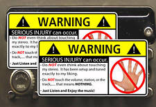 Don't Touch My Stereo Radio Head Unit Warning Sticker