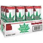 Rocky Mountain High Hemp Infused Energy Drink Hemp Leaf Can 12 Pack