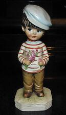 1973 Fran Mar Moppets Gift World of Gorham Boy Figurine w/ Flowers 1st Date
