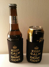 Cider Neoprene Keep Calm & Drink Cider Bottle and Can Cooler BUY 2 GET 1 FREE!