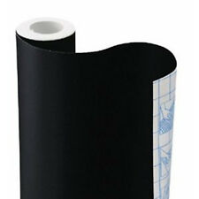 "9' x 18"" Solid Black or White self adhesive contact paper wallpaper Shelf liner"