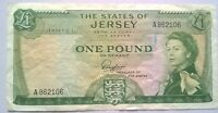 RARE VINTAGE ONE POUND BANK NOTE FROM THE STATES OF JERSEY BANK
