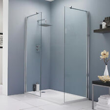Hudson Reed 700mm Walk In Wet Room Shower Screen Panel 8mm Easy Clean Glass