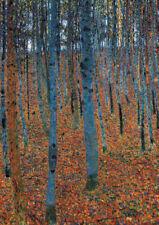 Gustav Klimt - Birch Forest - HUGE A1 59.4x84cm QUALITY Canvas Print Unframed