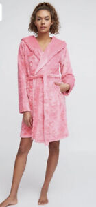 NWT Vera Bradley Soft Plush Fleece Hooded Robe Sweethearts & Flowers L/XL