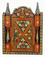 Orient Holz Schlüsselkasten Schlüsselschrank handpainted Key Hanger Keybox 19/E