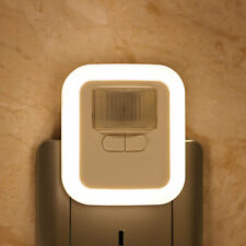 Night Lamp Motion Sensor Aisle Light Plug In Led Hallway Photosensitive Sleeping
