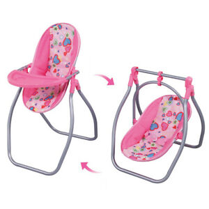 Baby Doll Highchair Cradle Swing Toy for Reborn Doll for Mellchan Baby Doll