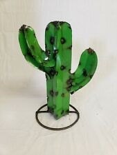 "12"" Recycled Southwestern Mexico metal yard art Saguaro Arizona CACTUS sculpture"