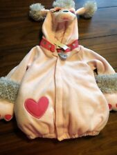 Old Navy Pink Poodle One Piece Fi Fi Halloween Costume Size 12-24 HOODED DOG