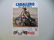 advertising Pubblicità 1975 MOTO FANTIC CABALLERO RC 50 / RC 125