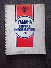 Yamaha Service Information 78