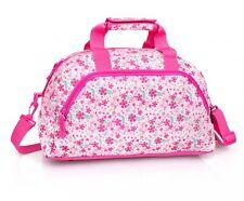 Floral Duffel Travel Weekend Holiday School Work Overnight Bag Flowers Pink