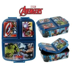 Marvel Avengers Kids Character 3 Compartment Sandwich Lunch Box Licenced Item