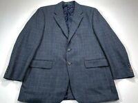 Lauren Ralph Lauren 42R Navy Brown Check 2-Button Single Dual Vent Sport Coat