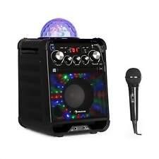 Karaokeanlage Maschine Set Kompakt Lautsprecher Lichtspiel LED CD Bluetooth