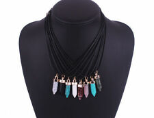 Gemstone Crystal Chain Costume Necklaces & Pendants